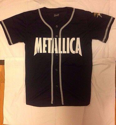 Metallica - Flaming Skull - Baseball Jersey - Concert Shirt - Large