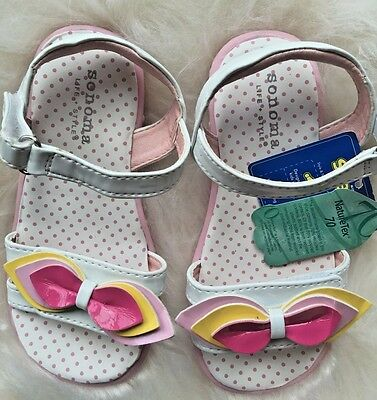 Sonoma Toddler Girls Size 10 Petunia Pink Yellow Sandals Shoes New Yellow Girls Sandals