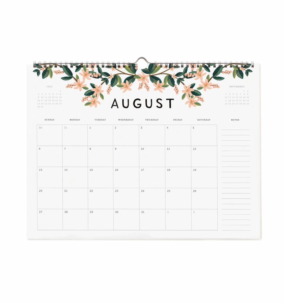 calendar fill in