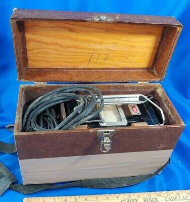 Megger Biddle Instruments Insulation Tester Meg Type Wood Case 8679 Antique Vtg