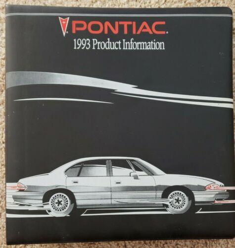 1993 Pontiac Product Information Book - Sales - Dealer