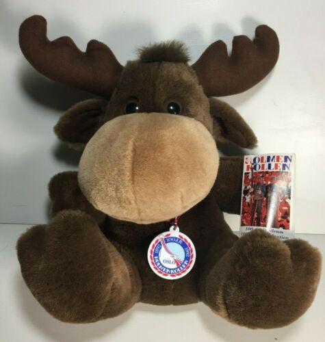 1992 HOLMENKOLLEN Oslo Ski Jump  Travel Souvenir Moose Plush 100th Anniversary