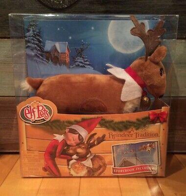 New Elf on the Shelf Pets Christmas Reindeer Plush Figure & Hardcover Book Set