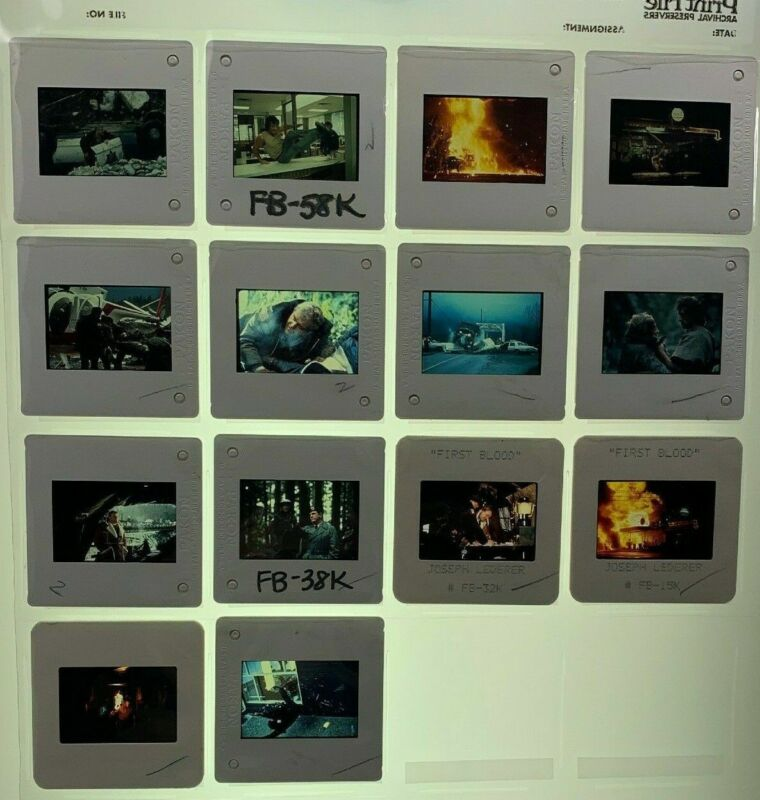 14 Rambo First Blood Movie 35mm Slides 1982 Promo Sylvester Stallone Vtg Lot #1