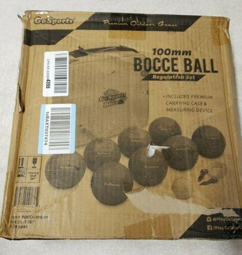 GoSports 100mm Regulation Bocce Set with 8 Balls, Pallino, Case and Measuring Ro