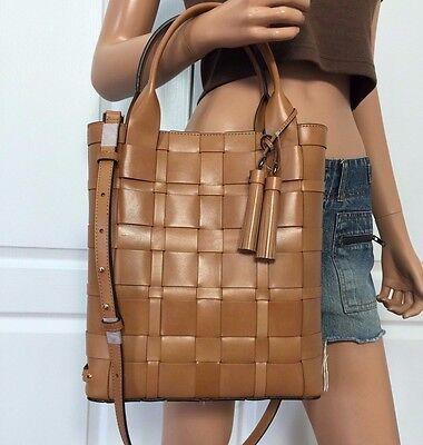 NWT Michael Kors Leather Large Brown Tote Handbag Shoulder Crossbody Bag Purse