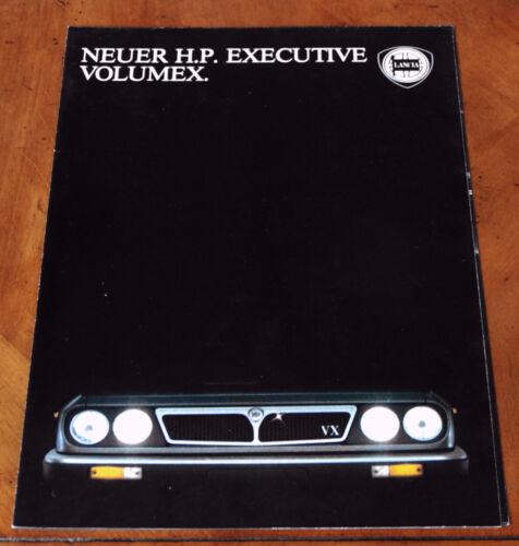 Lancia H.P. Executive Volumex sales brochure Prospekt, 1984 (German text)