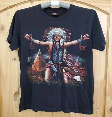 Rock Eagle Native American Black Graphic T-Shirt - Size - Native Americans Rock