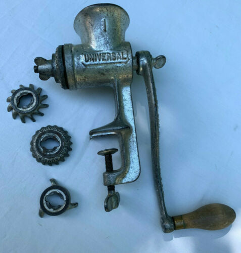 LF&C Universal I Meat Grinder Bread Crumber Nut Butter Attachments Pristine