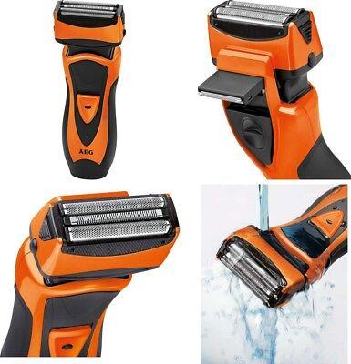 Afeitadora electrica de doble lamina con cabezal de recorte,bateria,uso en ducha