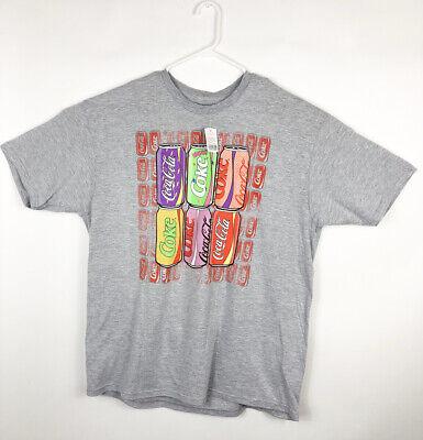 Coca Cola Apparel Mens Size 2XL Gray Graphic Print T Shirt