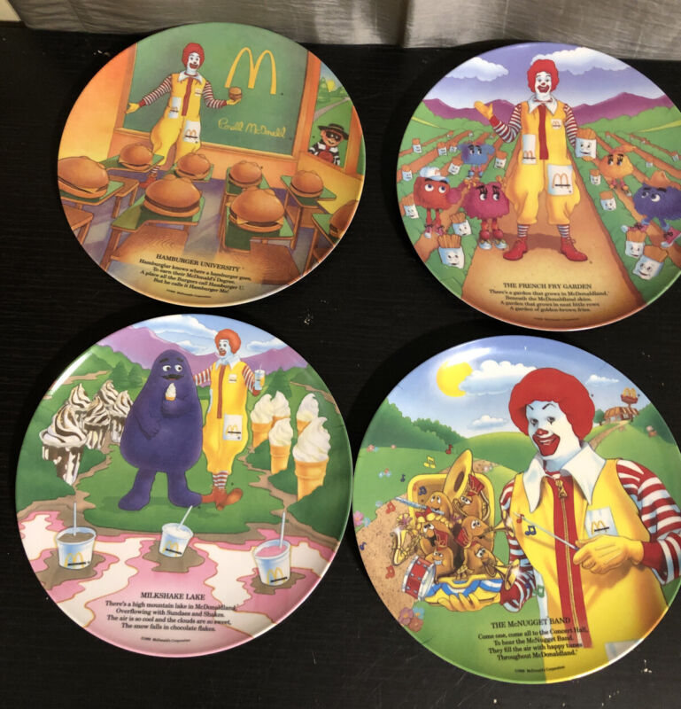 McDonalds Plates Vintage from 1989 Set of 4