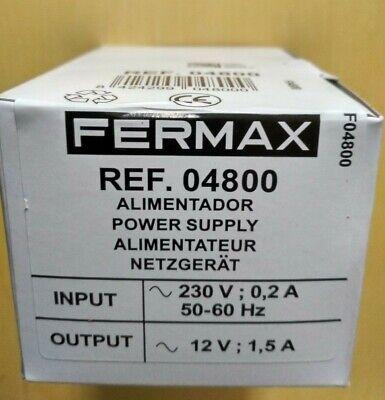 alimentador fermax ref. 4800 230v ac entrada,12v ac salida nuevo a estrenar