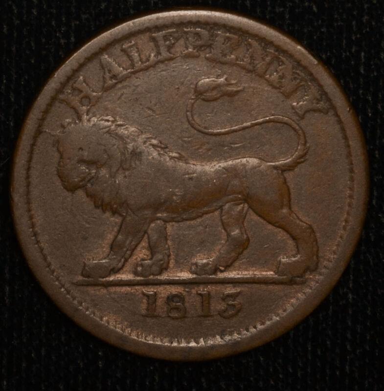 Trade Token Great Britain-Essex 1/2d Penny 1813 British Copper Co. Walthamstow