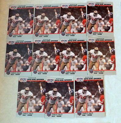 Charles Haley Sf 49Ers 11 Card Lot 1990 Pro Set Super Bowl Supermen Card  95