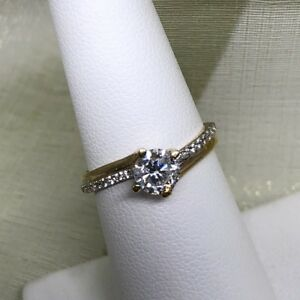 10k gold solitaire engagement ring