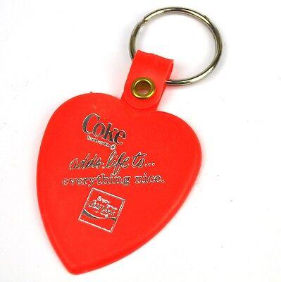 Coca-Cola USA 1980 Schlüsselanhänger Key Chain Coke adds life to... - rotes Herz