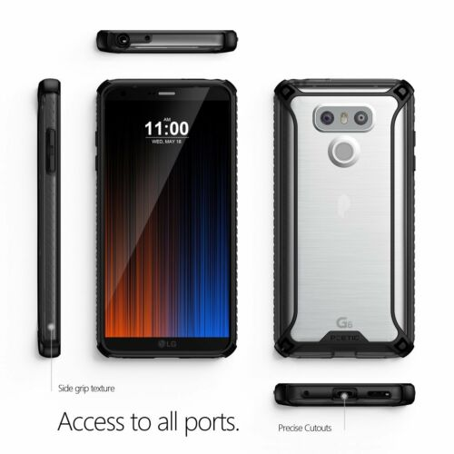 "Poetic ""Slim Fit Durable Shockproof Protective Cover"" For LG G6 Case Black"