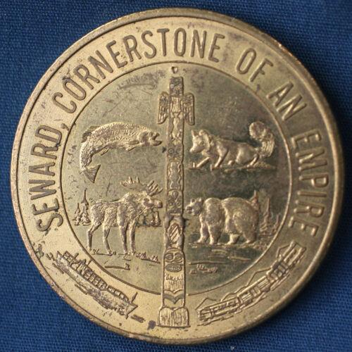 1967 Alaska Purchase Centennial Seward Cornerstone of An Empire Medallion