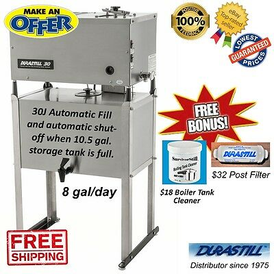 30J Durastill 8 Gallon/ day Automatic Water Distiller with 10.5 Gallon SS (Automatic Water Distiller)