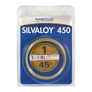 Lucas Milhaupt Silvaloy 450 45% Silver Solder Brazing Alloy 1 oz, 98000