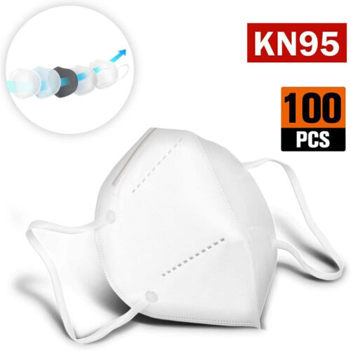[50 / 100 PCS] 5 Layers Face Mask Mouth & Nose Protector Respirator Masks White