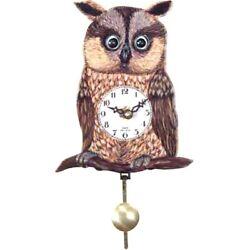 Black Forest Owl' Eye 5.75-Inch Wide Wall Clock