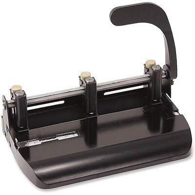 Officemate 2-3 Hole Punch Adjustable Wlever Handle Punch 32 Sheets Bk 90078