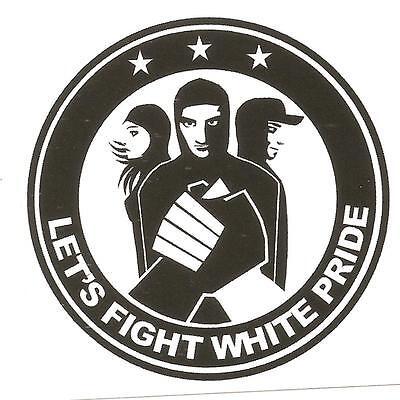 50 Lets Fight Wh.P. Aufkleber stickers Punk GNWP Antinazi AFA Gegen Nazis Raus