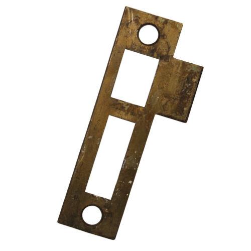 "Antique Strike Plates for Mortise Locks, 1/4"" Spacing, NSTP58"