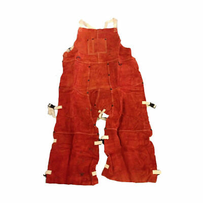 Split Leg Welding Apron - Orange Red 664979201747