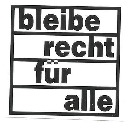 50x Bleiberecht für alle Aufkleber Refugee Anti Nazi GNWP Asyl Punk Gegen Nazis