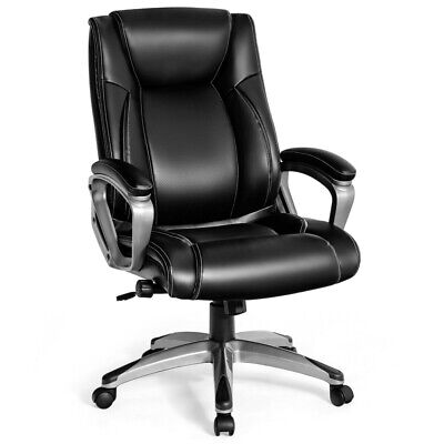 Gymax Executive Big Tall Office Chair High Back Task Chair W Lumbar Support
