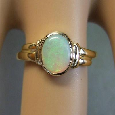 18 ct GOLD second hand opal ring