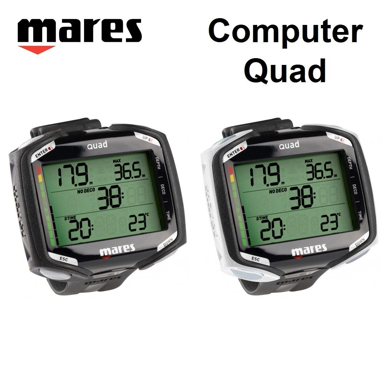 Computadora De Buceo Mares Quad 414134 Pulsera Reloj De