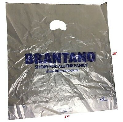 Clear Misprinted Patch Handle Plastic Carrier Bags 17x18+3