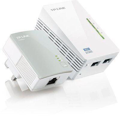 TP-LINK TL-WPA4220KIT AV500 Powerline 300M Wi-Fi Extender Signal Booster Hotspot