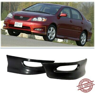 Front Bumper Lips For 2005 2008 Toyota Corolla S Factory Style 2pcs