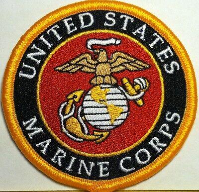 United States Marine Corps  Military  Iron On Patch Shoulder USMC