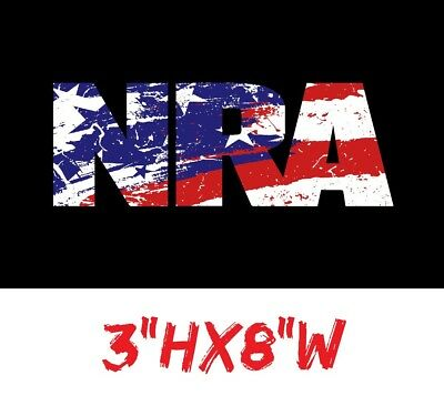 NRA Life time Patch Decal Sticker National Rifle Association Gun Rights USDM 2nd