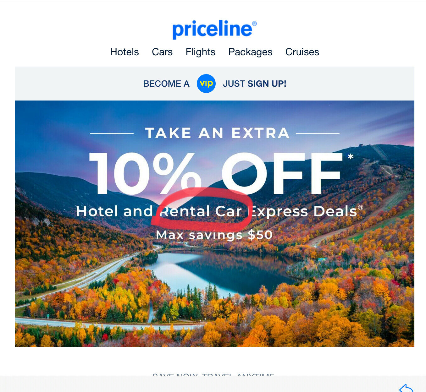 Priceline.com Coupon-10 Off Hotel/ Rental CAR Express Deals Exp.10/16 Max. 50 - $3.95