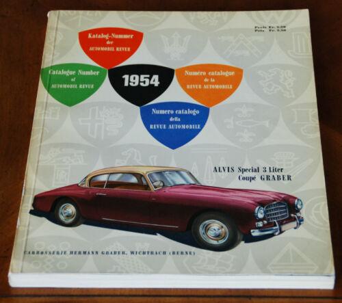 1954 Automobile Revue Catalogue (Hallwag)