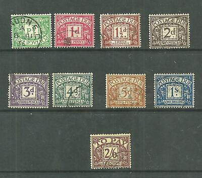 1924 SGD 10 - 18 Block Cypher Postage Due set of 9 . Fine used.
