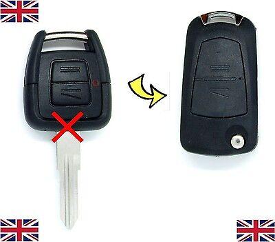 Vauxhall Opel Astra G Vectra zafira 2 Button FLIP remote key fob case CONVERSION