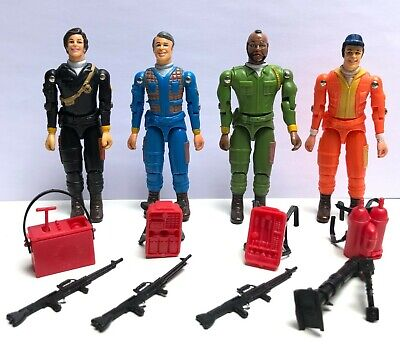 Vintage The A Team Galoob Action Figures with Guns & Accessories 1983 80s