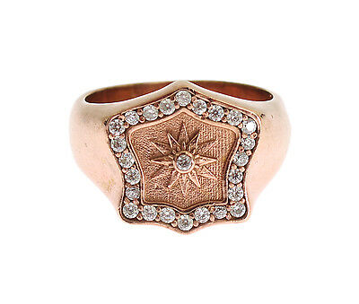 NWT NIALAYA Ring Authentic Womens Clear CZ Pink Gold 925 Silver s US5 /EU50