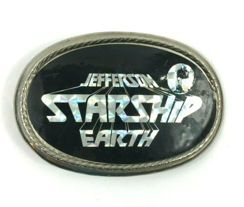 1978 Jefferson Starship Earth Vintage Belt Buckle Metallic Prism Pre-owned Good