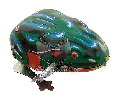 �� Blechspielzeug Frosch mit Aufziehmotor - hüpfender Blechfrosch  - NEU + OVP