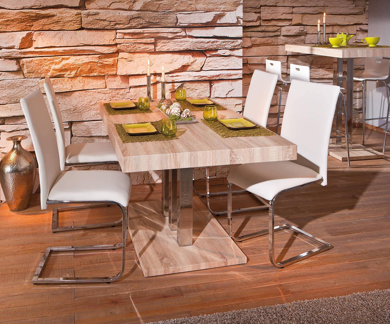 #AD981E Table De Salle à Manger Moderne En Métal Chromé Décor  3727 salle a manger moderne en chene 1500x1248 px @ aertt.com