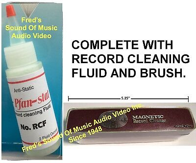 Anti-Static Fluid & Record Cleaner Brush Audio Cleaning Kit Quest For Best